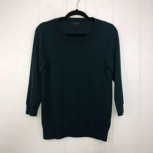 J Crew Wool Tippi Sweater Emerald S